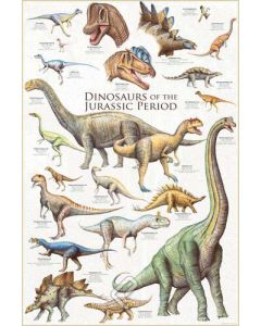 Dinosaurs of the Jurassic Period Poster