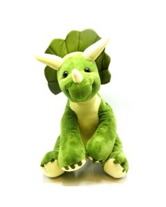 Large 15 Inch Plush Green Triceratops