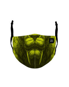 Youth Mask Saber Tooth Green