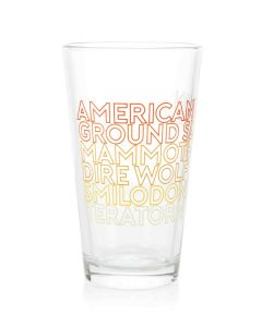 Tar Pits Paleo Species Pint Glass