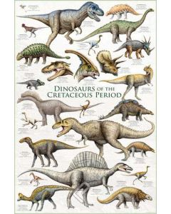 Dinosaurs of the Cretaceous Period Poster