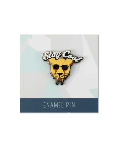''Stay Cool'' Sabertooth Enamel Pin